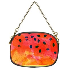 Abstract Watermelon Chain Purses (one Side)  by DanaeStudio