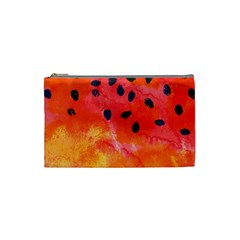 Abstract Watermelon Cosmetic Bag (small)  by DanaeStudio