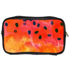 Abstract Watermelon Toiletries Bags 2 Side by DanaeStudio