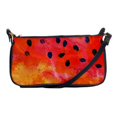 Abstract Watermelon Shoulder Clutch Bags by DanaeStudio