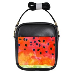 Abstract Watermelon Girls Sling Bags by DanaeStudio
