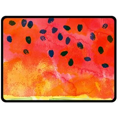 Abstract Watermelon Fleece Blanket (large)  by DanaeStudio