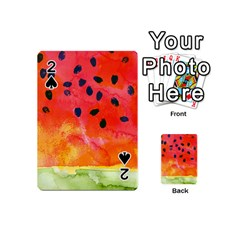 Abstract Watermelon Playing Cards 54 (mini)  by DanaeStudio