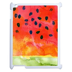 Abstract Watermelon Apple Ipad 2 Case (white) by DanaeStudio