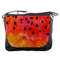 Abstract Watermelon Messenger Bags by DanaeStudio