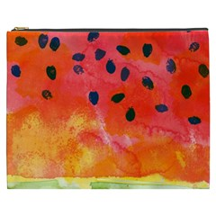 Abstract Watermelon Cosmetic Bag (xxxl)  by DanaeStudio