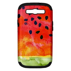 Abstract Watermelon Samsung Galaxy S Iii Hardshell Case (pc+silicone) by DanaeStudio