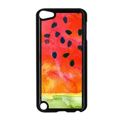 Abstract Watermelon Apple Ipod Touch 5 Case (black) by DanaeStudio