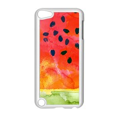 Abstract Watermelon Apple Ipod Touch 5 Case (white) by DanaeStudio