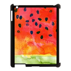Abstract Watermelon Apple Ipad 3/4 Case (black) by DanaeStudio