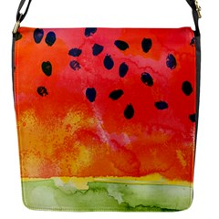 Abstract Watermelon Flap Messenger Bag (s) by DanaeStudio