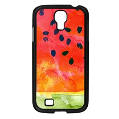 Abstract Watermelon Samsung Galaxy S4 I9500/ I9505 Case (black) by DanaeStudio