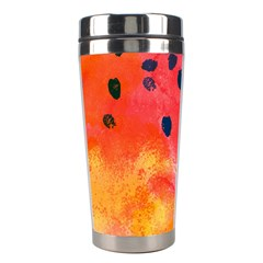 Abstract Watermelon Stainless Steel Travel Tumblers by DanaeStudio