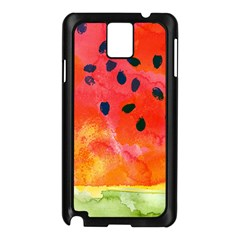 Abstract Watermelon Samsung Galaxy Note 3 N9005 Case (black) by DanaeStudio