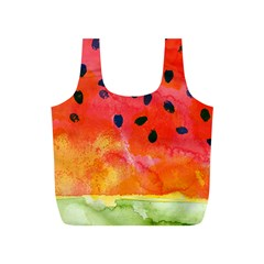 Abstract Watermelon Full Print Recycle Bags (s)  by DanaeStudio