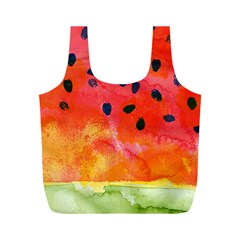 Abstract Watermelon Full Print Recycle Bags (m)  by DanaeStudio