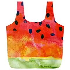 Abstract Watermelon Full Print Recycle Bags (l)  by DanaeStudio