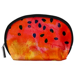 Abstract Watermelon Accessory Pouches (large)  by DanaeStudio
