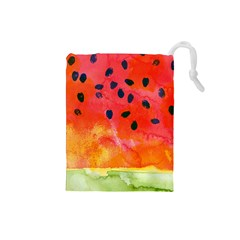 Abstract Watermelon Drawstring Pouches (small)  by DanaeStudio