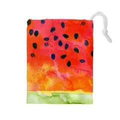 Abstract Watermelon Drawstring Pouches (large)  by DanaeStudio