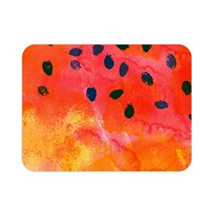 Abstract Watermelon Double Sided Flano Blanket (mini)  by DanaeStudio