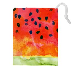 Abstract Watermelon Drawstring Pouches (xxl) by DanaeStudio