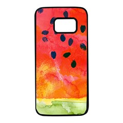 Abstract Watermelon Samsung Galaxy S7 Black Seamless Case by DanaeStudio