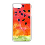 Abstract Watermelon Apple iPhone 7 Plus White Seamless Case Front