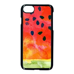 Abstract Watermelon Apple Iphone 7 Seamless Case (black) by DanaeStudio