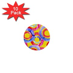 Blue And Pink Dream 1  Mini Buttons (10 Pack)  by DanaeStudio