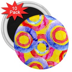 Blue And Pink Dream 3  Magnets (10 Pack)  by DanaeStudio