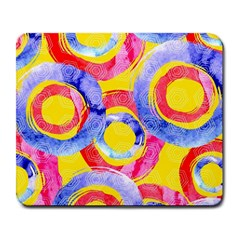 Blue And Pink Dream Large Mousepads by DanaeStudio