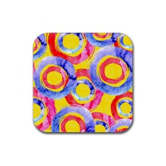 Blue And Pink Dream Rubber Coaster (square)  by DanaeStudio