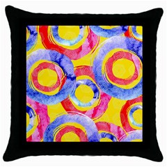 Blue And Pink Dream Throw Pillow Case (black) by DanaeStudio