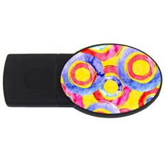 Blue And Pink Dream Usb Flash Drive Oval (4 Gb)  by DanaeStudio