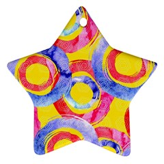 Blue And Pink Dream Star Ornament (two Sides)  by DanaeStudio