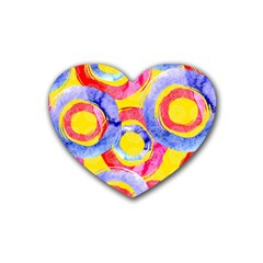 Blue And Pink Dream Heart Coaster (4 Pack)  by DanaeStudio