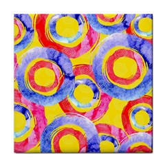 Blue And Pink Dream Face Towel by DanaeStudio