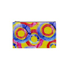Blue And Pink Dream Cosmetic Bag (small)  by DanaeStudio