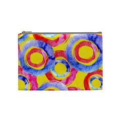 Blue And Pink Dream Cosmetic Bag (medium)  by DanaeStudio