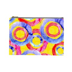 Blue And Pink Dream Cosmetic Bag (large)  by DanaeStudio