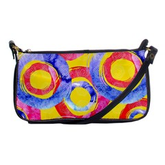 Blue And Pink Dream Shoulder Clutch Bags by DanaeStudio