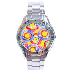 Blue And Pink Dream Stainless Steel Analogue Watch by DanaeStudio