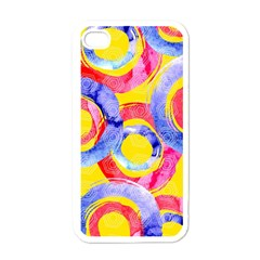 Blue And Pink Dream Apple Iphone 4 Case (white) by DanaeStudio