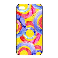 Blue And Pink Dream Apple Iphone 4/4s Seamless Case (black) by DanaeStudio