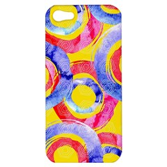 Blue And Pink Dream Apple Iphone 5 Hardshell Case by DanaeStudio