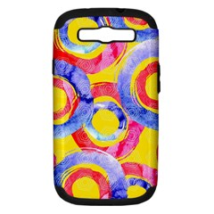 Blue And Pink Dream Samsung Galaxy S Iii Hardshell Case (pc+silicone) by DanaeStudio