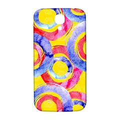 Blue And Pink Dream Samsung Galaxy S4 I9500/i9505  Hardshell Back Case by DanaeStudio