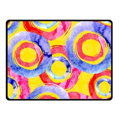 Blue And Pink Dream Double Sided Fleece Blanket (small)  by DanaeStudio