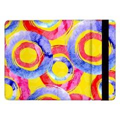 Blue And Pink Dream Samsung Galaxy Tab Pro 12 2  Flip Case by DanaeStudio